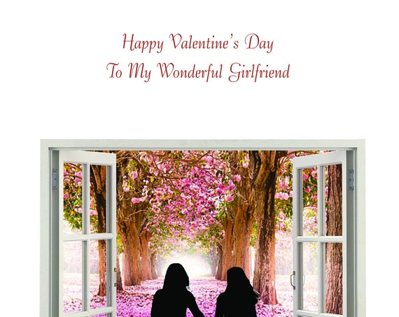 Girlfriend Valentine's Day Card female and female new design
