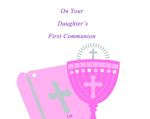On Your Daughter's First Communion card