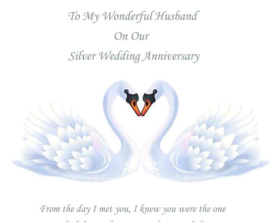 Husband Silver Anniversary Card