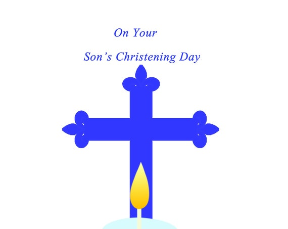 On Your Son's Christening Day card