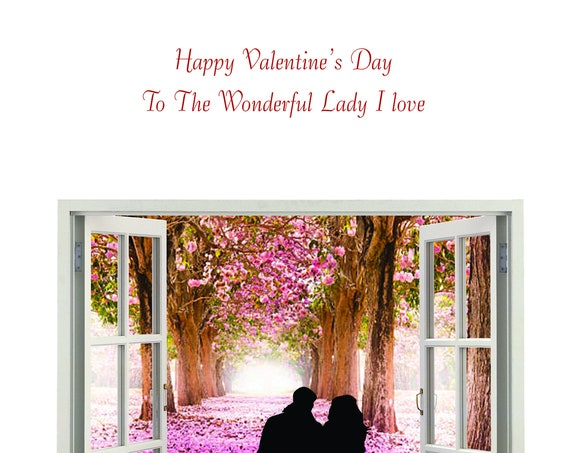 Lady I love Valentine's Card new design