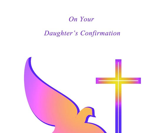 On Your Daughter's Confirmation card
