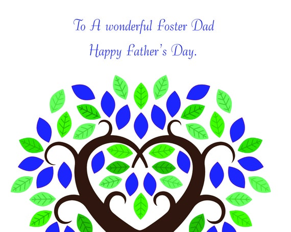 Foster Dad Father's day card