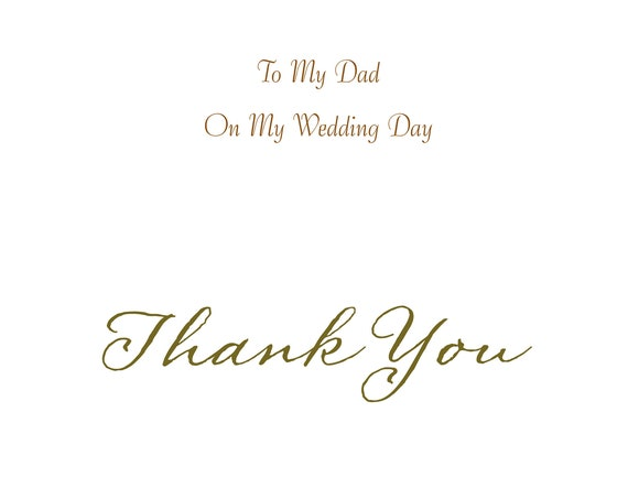 Dad From Son Wedding Card Thank you
