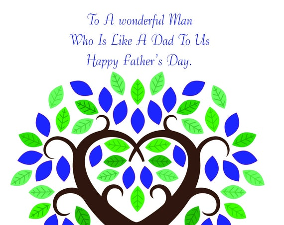 Like a Dad to us Father's Day Card