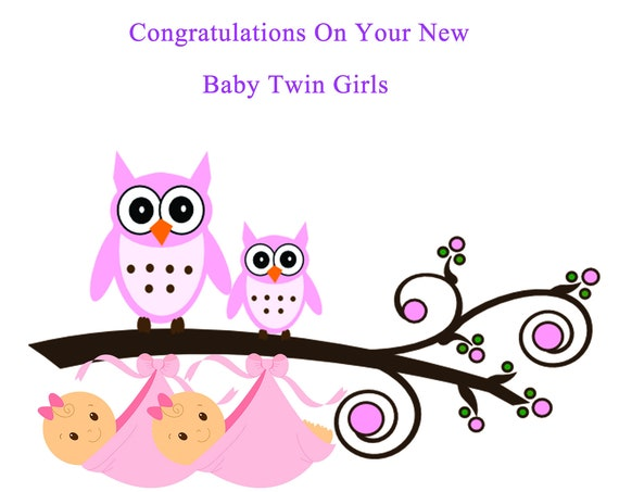 Congratulations New twin girls card