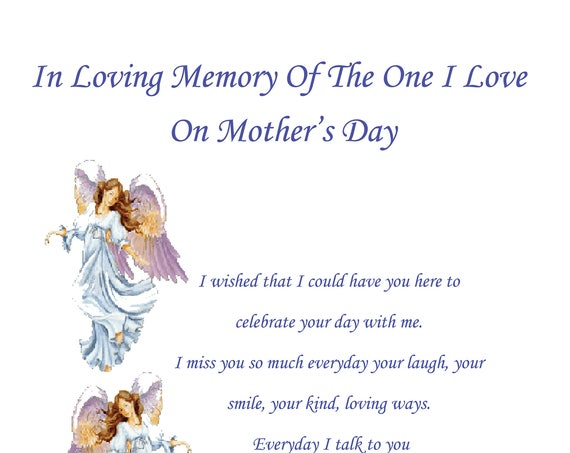 On I Love In Memory Mothers Day Card