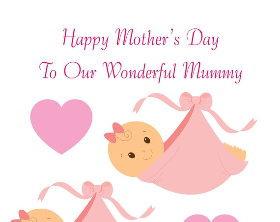 Twin Girls Bump Mothers Day Card