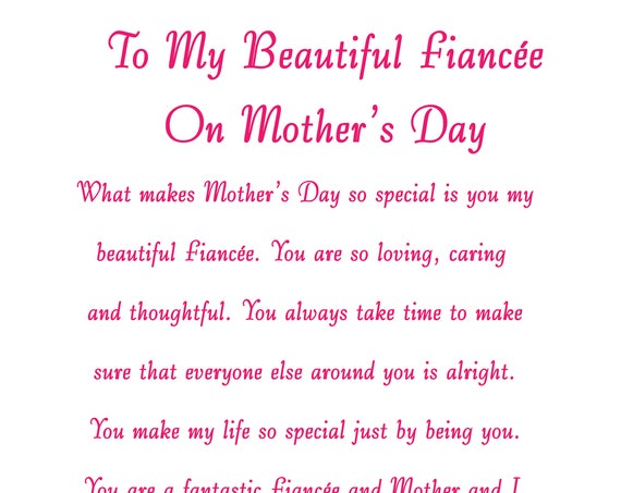 Fiancee Mothers Day Card 2