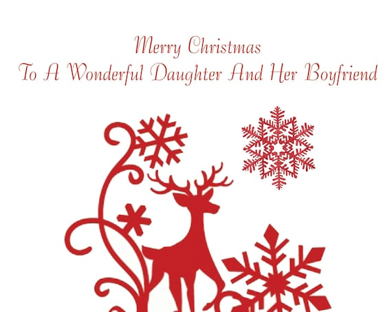 Daughter And Boyfriend Christmas Card