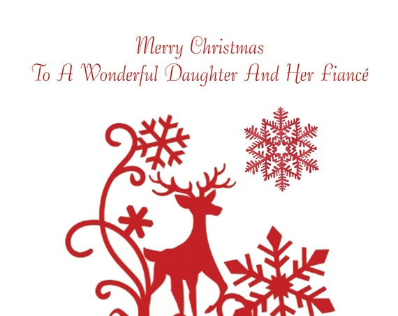 Daughter And Fiance Christmas Card