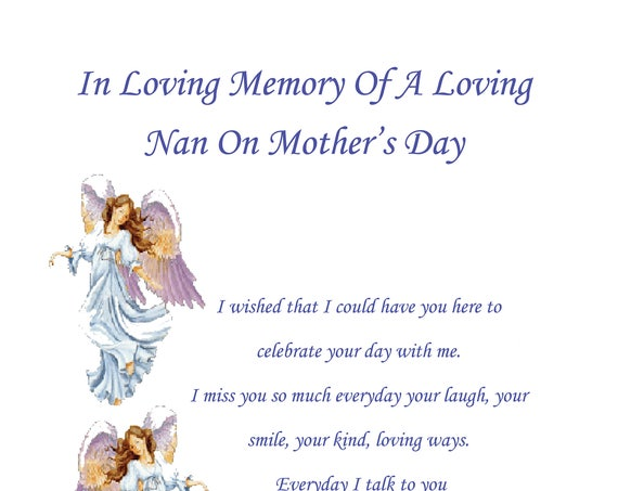 Nan In Memory Mothers Day Card