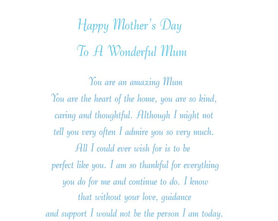 Mum Mothers Day Card 2