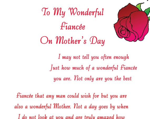 Fiancee Mothers Day Card 1