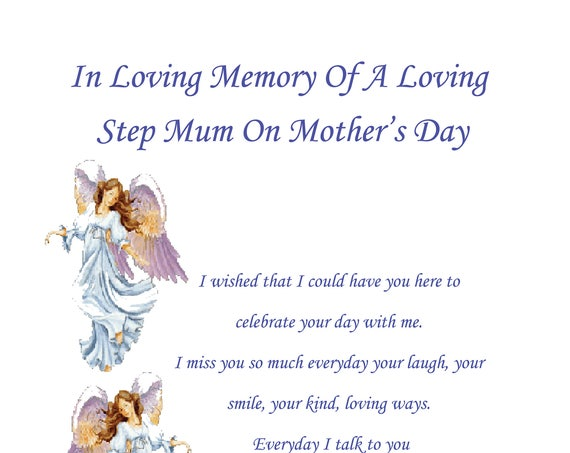 Step Mum In Memory Mothers Day Card
