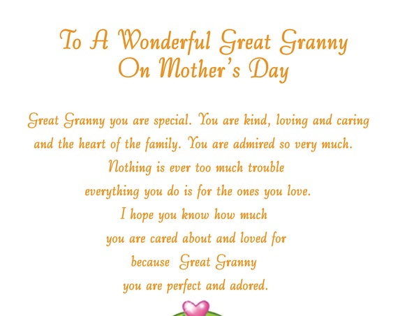 Great Granny Mothers Day Card 2