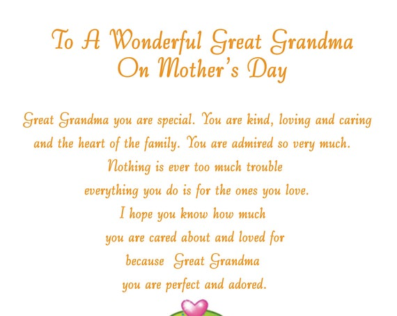 Great Grandma Mothers Day Card 2