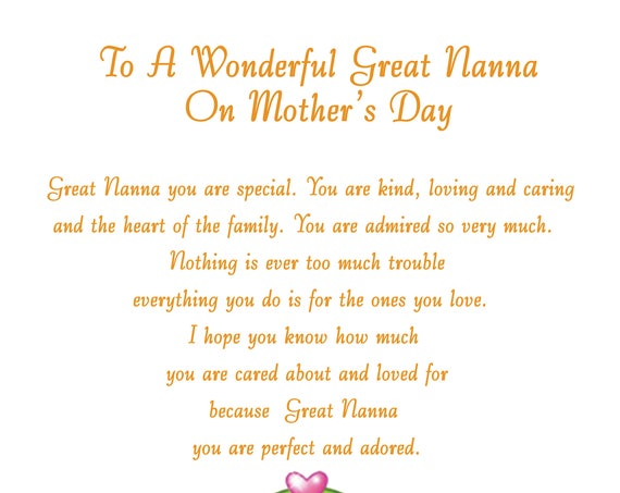 Great Nanna Mothers Day Card 2