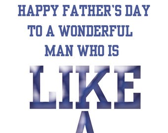 Like a Dad Fathers Day Card