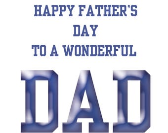 Dad Fathers Day Card