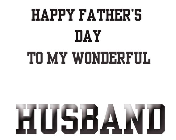 Husband Fathers Day Card