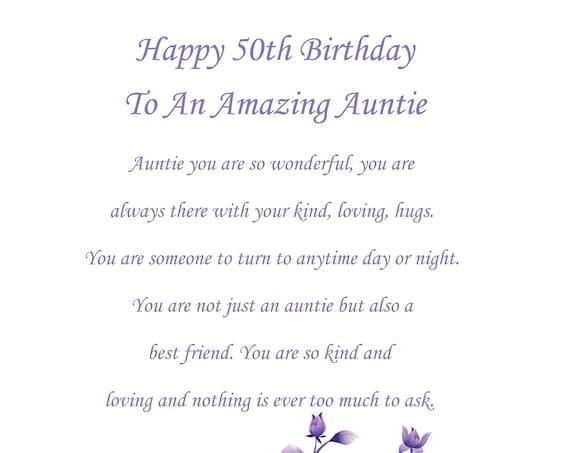 Auntie 50th birthday card