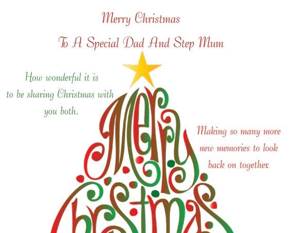 Dad and Step Mum Christmas Card