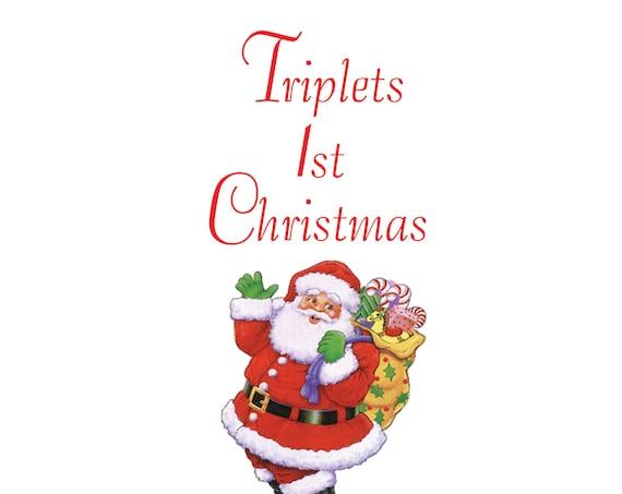 Triplets 1st Christmas Card