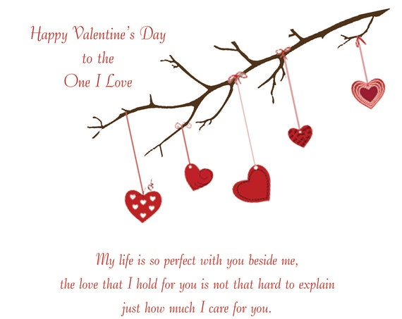 One I Love Valentine's Day Card (female to male)