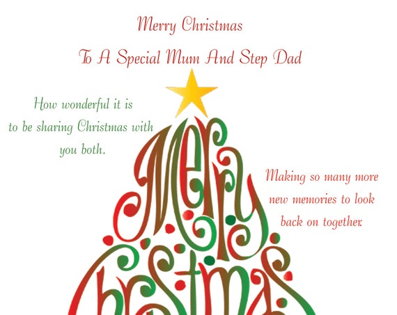 Mum and Step Dad Christmas Card