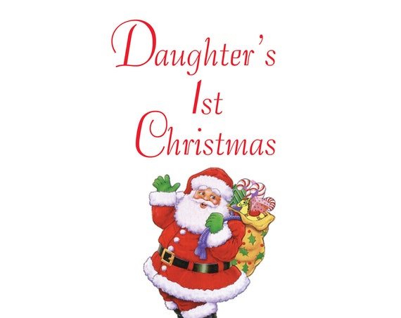 Daughter 1st Christmas Card