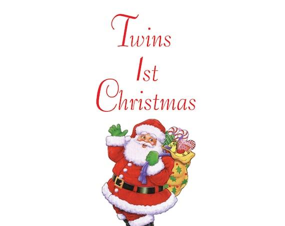 Twins 1st Christmas Card