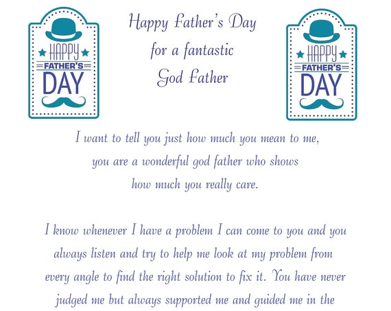 Godfather Fathers Day Card