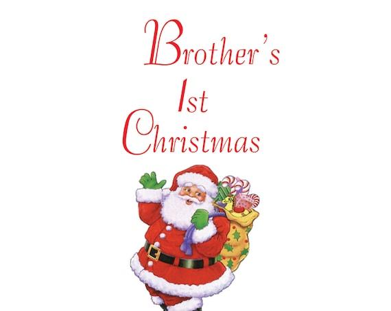Brother 1st Christmas Card