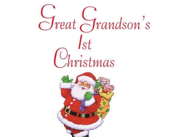 Great Grandson 1st Christmas Card