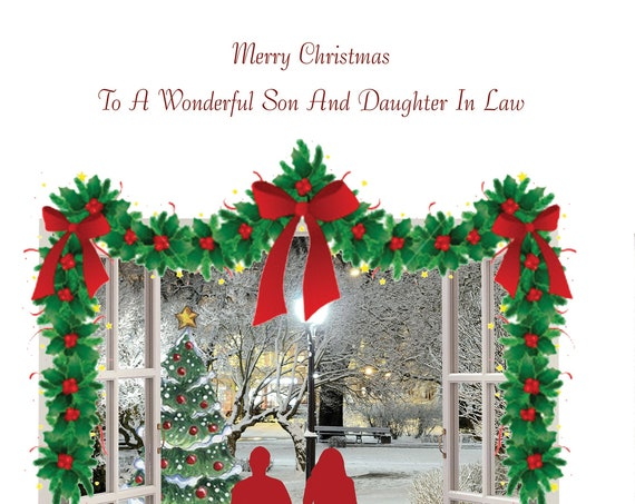 Son and Daughter in law Christmas Cards