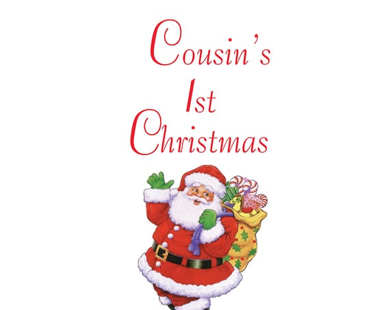 Cousin 1st Christmas Card Male