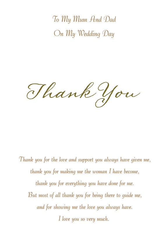To My Daughter Wedding Card On the day card Daughter On My Wedding Day Daughter card Wedding Thank You