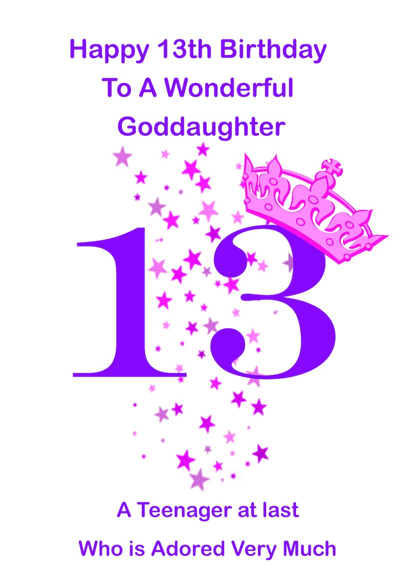 Goddaughter 13 Birthday Card