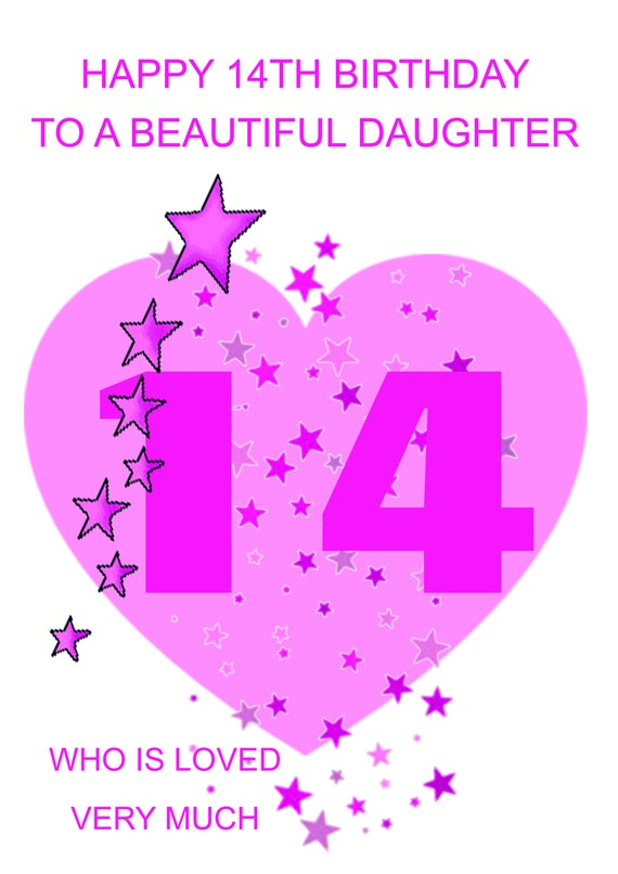 Daughter 14th Birthday Card