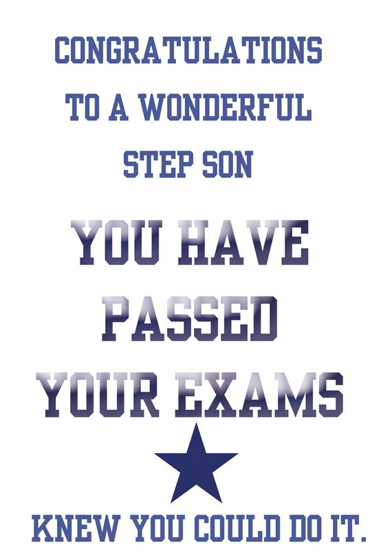Passing Exams Step Son