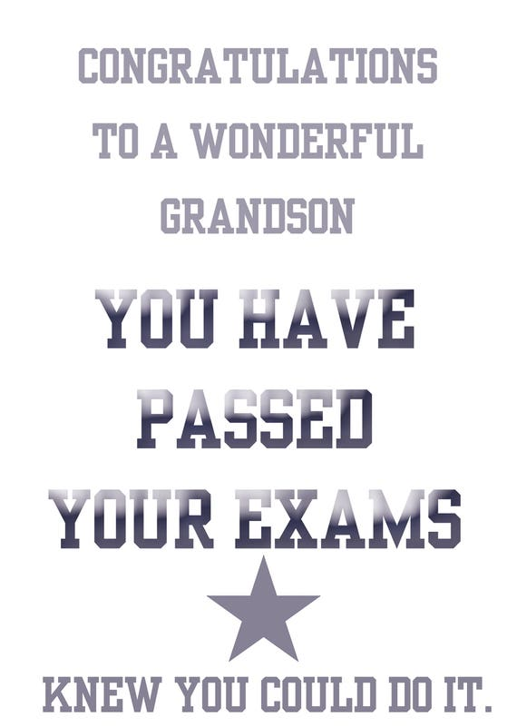 Passing Exams Grandson