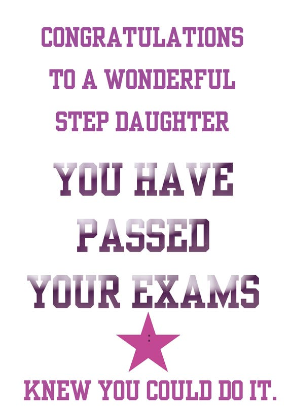 Passing Exams Step Daughter
