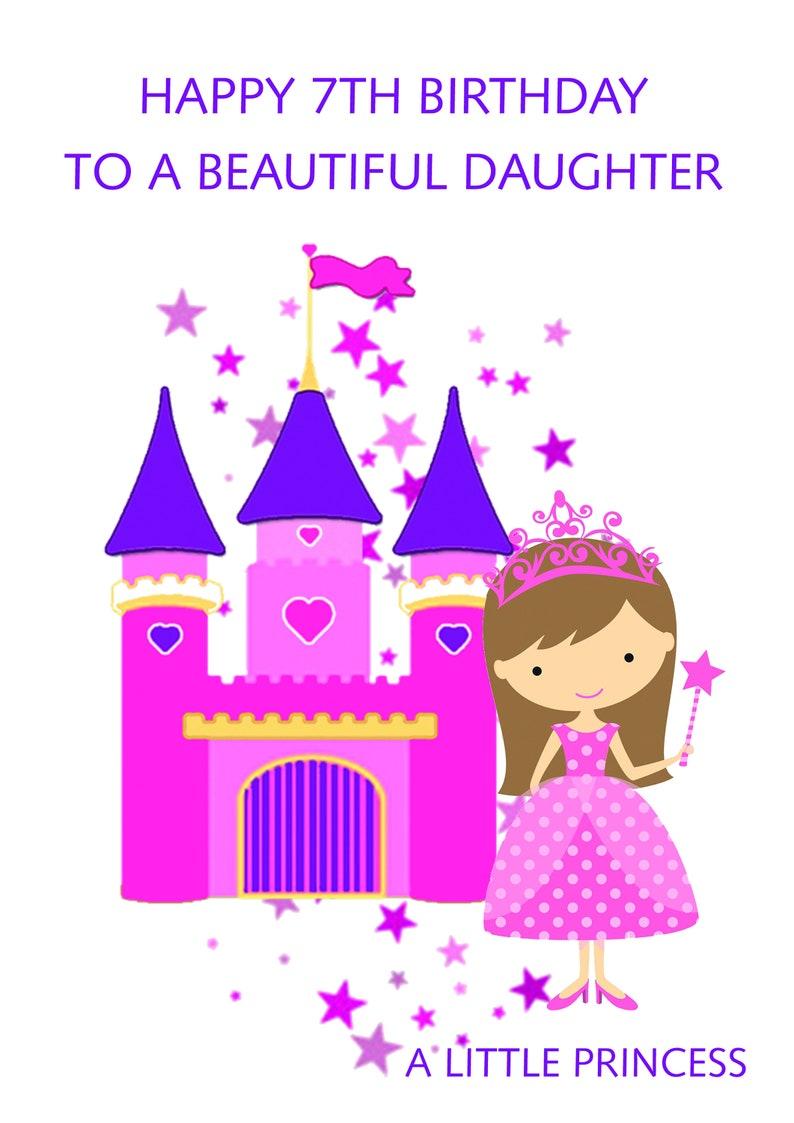 Daughter 7th Birthday Card Etsy