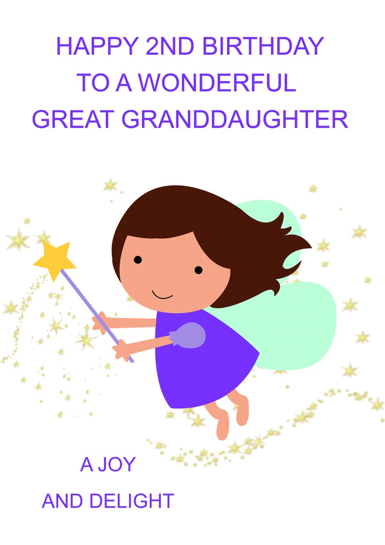 Great Granddaughter 2nd Birthday Card