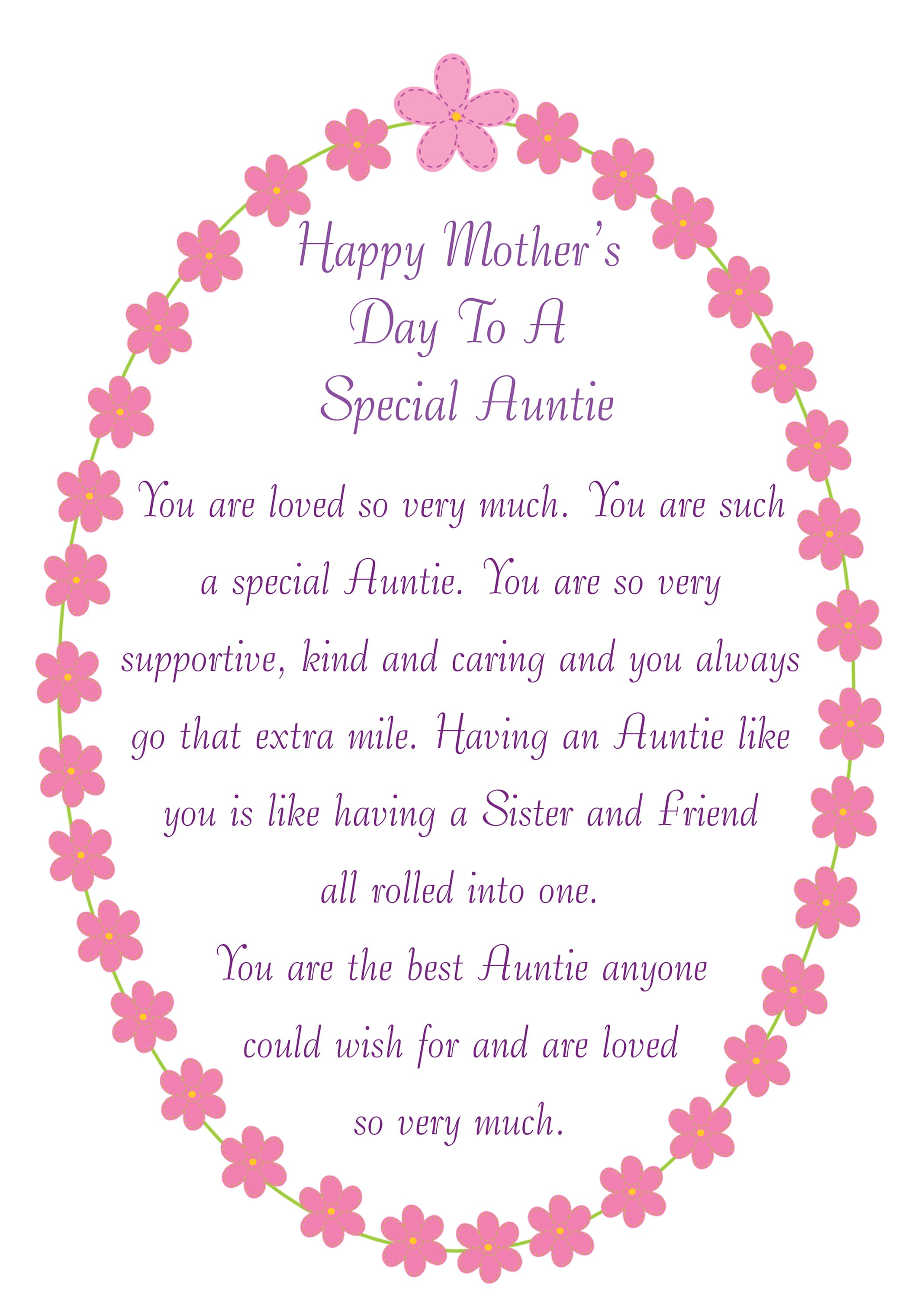 auntie mothers day card 2