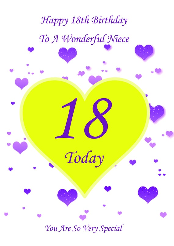Phenomenal Niece 18Th Birthday Card Etsy Funny Birthday Cards Online Alyptdamsfinfo