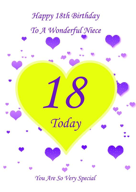 Phenomenal Niece 18Th Birthday Card Etsy Funny Birthday Cards Online Elaedamsfinfo