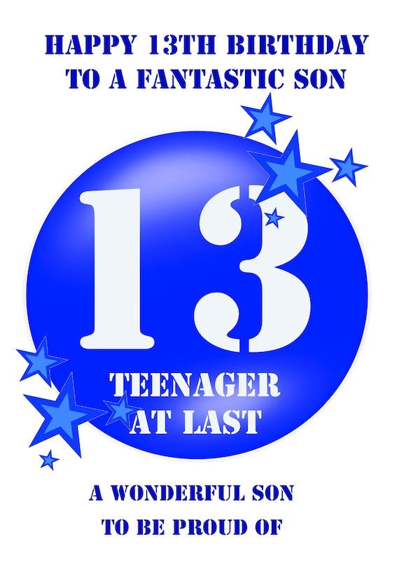 Son 13 Birthday Card