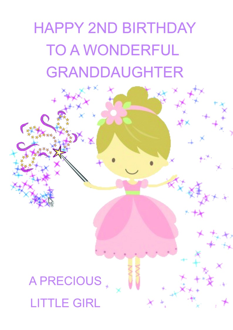 Granddaughter 2nd Birthday Card